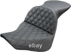 Seat Explore Ls Two-up Lattice Black Harley Davidson Abs Softail Fat Boy F