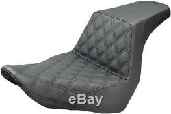 Seat Ls Step Up Driver Lattice Black Abs Harley Davidson Softail Flsb Sport