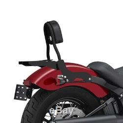 Sissy Bar CL + Luggage Rack For Harley-davidson Softail 18-19 Black