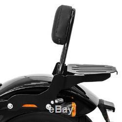Sissy Bar CL + Luggage Rack For Harley-davidson Softail Slim 18-19 Black