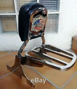 Sissy Bar + Complete Door Removable Luggage Harley Davidson Softail