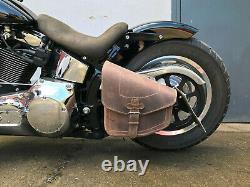 Softail Fatboy Hd Odin Marron Braun Bag Oscillant Frame Harley Davidson Leather
