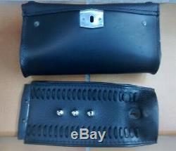 Tank Panel & Leather Bag From Windshield Harley Davidson Softail Fat Boy Twin Cam