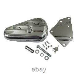 Toolbox, Chrome Tool With Right Support For Harley Davidson Softail
