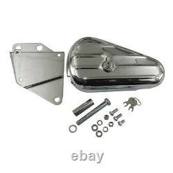 Tools Box, Chrome Tool With Left Support For Harley Davidson Softail