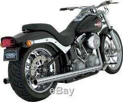Vance & Hines Softail True Dual Exhaust Wheels Chrome 16893