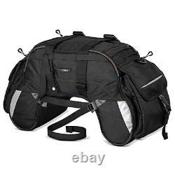 Wp35 Saddle Bag For Harley Davidson Softail Slim / Sport Glide Noir
