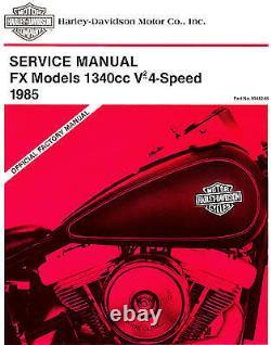 1985 Harley-Davidson Fx Softail V2 Service Manual-New Sealed-Fxef-Fxwg-Fxsb-Fxst