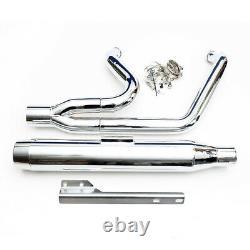 2,5 inch 2 in 1 échappement exhaust Harley-Davidson Softail 2000-2013