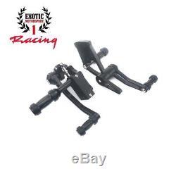 Billette Aluminium Forward Controls Harley Softail Fatboy 2000-2017 Noir