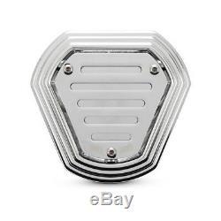 Burly Hex Filtre à Air, Chrome, pour Harley-Davidson Softail, Dyna Touring 93-17