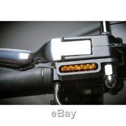 CLIGNOTANTS NOIR LED CUSTOM HARLEY DAVIDSON Softail 96-14 MOTOMIKE 34