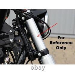 Caches Tubes De Fourche Harley Davidson Softail Break Out Noir Wrinkle