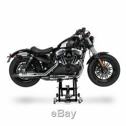 Cric Moto á Ciseaux XL pour Harley Davidson Softail Low Rider noir Lève
