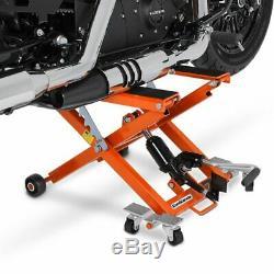 Cric Moto á Ciseaux XL pour Harley Davidson Softail Low Rider orange Lève
