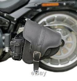 Cuir Véritable Selle Sac Sacoche pour Harley Davidson pour Fatboy Dérivation