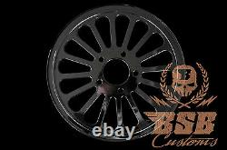 DNA Graisse Spoke Poulie 66 Z. 1 Harley Davidson Softail Deluxe Heritage (Noir)