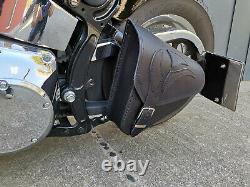 Eagle Noir Softail 1981-2019 Sacoche Oscillant Harley Davidson Tribel Adler Cuir