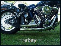 Échappement Collecteur Pour Harley Davidson Softail Modèle Court Tirer 1986-2006