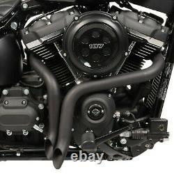 Echappement pour Harley-Davidson Softail 18-21 Drag Pipe pot de silencieux noir