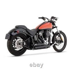 Echappements Vance & Hines Shortshots Noirs Harley Davidson Softail 2012-2017