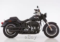 Falcon Échappement Harley Davidson Softail Différents Modèles Noir + Cat. Eg-Abe