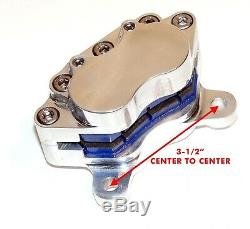 Frein arrière 4 pistons poli pour Harley-Davidson Softail depuis 2000