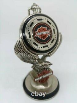 Harley Davidson Montre gousset Franklin Mint Héritage Softail sur socle aigle