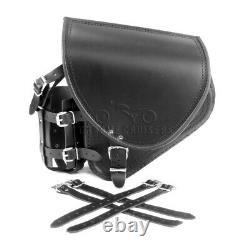 Harley Davidson Pour Cuir Noir Bras Oscillant Sacoche Latérale + Support