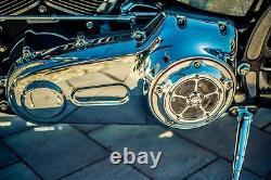 Harley Davidson Softail Dyna Touring Derby Cover 5 Étoile Tous Big Jumeaux Polie