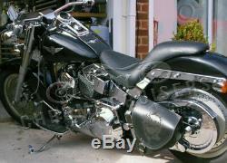 Harley Davidson en Petits Groupes Cuir Noir Sacoche Bras Oscillant Latérale /