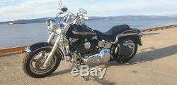 Harley Davidson pour Cuir Noir Bras Oscillant Sacoche Simple Sacoche Latérale