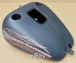 Harley Original Réservoir D'Essence Noir à Carburant Softail Flstsb Cross OS