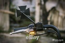 Heinzbikes Clignotant LED Guidon Harley Davidson Softail 96 2014 Noir