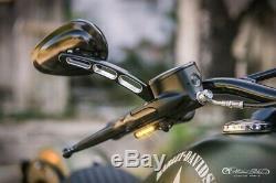 Heinzbikes Clignotants LED Guidon Harley Davidson Softail Breakout 2018 Noir