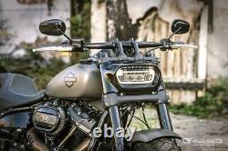 Heinzbikes Clignotants LED Guidon Harley Davidson Softail Sport Glide 2019 Chrom