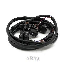Interrupteur Armature pour guidon noir F. HARLEY-DAVIDSON SOFTAIL & DYNA 96-06