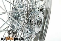 Jante 16x3,5 avant 80 rayons 1x flasque 1 pour Harley-Davidson chrome