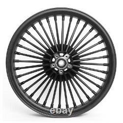 Jante Big Spoke avant 3.5x16 pour Harley Softail Custom / Deluxe noir