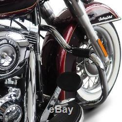 Pare carter pour Harley Davidson Softail 2000-2017 Mustache chrome