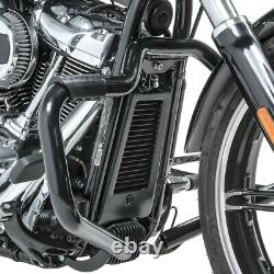 Pare cylindre Mustache II pour Harley-Davidson Softail 2000-2017 noir