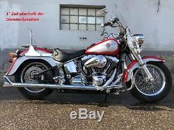 Plein Ajustable Amortisseurs pour Harley Davidson Softail FXST / FLST 00 18