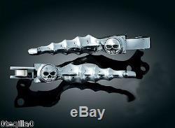 Poignee manette Sportster Harley Davidson lever skull kuryakyn 1047 softail