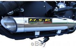 R Double Echappement Homologuée Msr Custom Harley Davidson Fxst/b / Softail