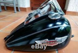 Réservoir Harley Davidson Softail Deluxe Complet Avec Compteur & Insignes