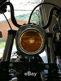 Reservoir essence, console centrale complete pour softail. Phare jaune vintage