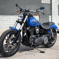 Rétroviseur Achilles 3D noir bleu pliable pour Kawasaki VN900 2000 Versys ER6N