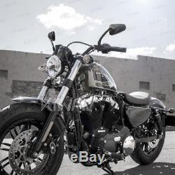 Rétroviseur noir LED clignotant arrow panel pour Harley-Davidson softail deluxe