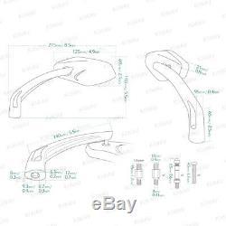 Rétroviseurs chromé moto aluminum pour HARLEY-DAVIDSON CVO Softail Springer