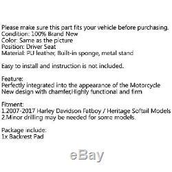 Rider Backrest Pad Dosseret Pour 07-17 FLSTF Heritage Softail BK F FR